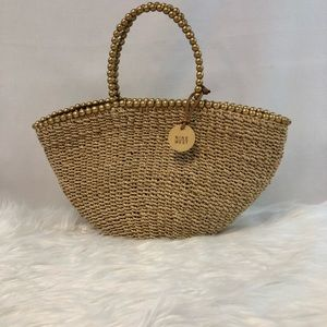 Nine West Woven Straw Tote
